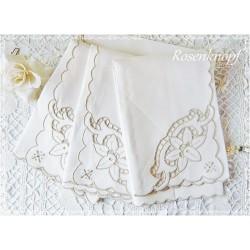 STOFFSERVIETTEN Hohlsaumstickerei Ivory Vintage