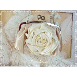 Vintage Tasche Brautclutch Gold Rose Clutch Shabby