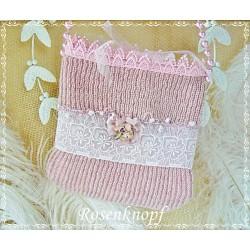 Tasche MADJA Brauttasche Rosa Weiß Spitze Perlen