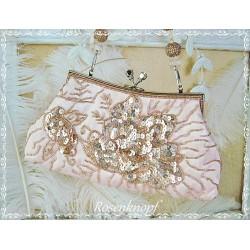 Tasche BUTTERFLY Vintage Brauttasche Rosa Puder