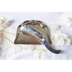 TISCHBESENGARNITUR Vintage Versilbert Shabby BMF Silber 1950ger