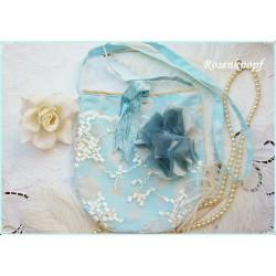 Tasche Brauttasche Hellblau Ivory