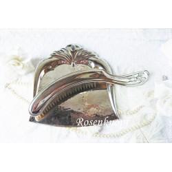 TISCHBESENGARNITUR Vintage Shabby Metall  1930ger