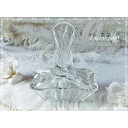 GLASFLACON mit DECKEL Vintage Glas Shabby