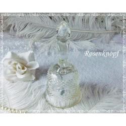 Antike GLASSCHALE mit Henkel Vintage Glas Shabby