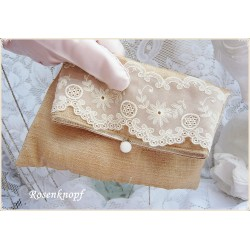 Clutch  Brautclutch Gold Seide