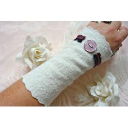 Walk-Armstulpen BELLE BLANCHE Brautstulpen Weiß XS