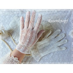 Vintage Handschuhe Ivory Brauthandschuhe