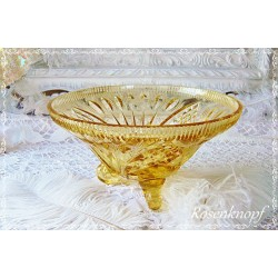 Glasschale Goldgelb Vintage Shabby E