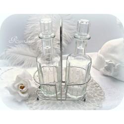 ESSIG & ÖL Glasflaschen Set Vintage Shabby Glas