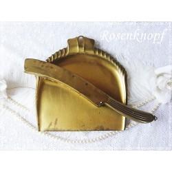TISCHBESENGARNITUR Vintage Shabby Gründerzeit Messing E+K