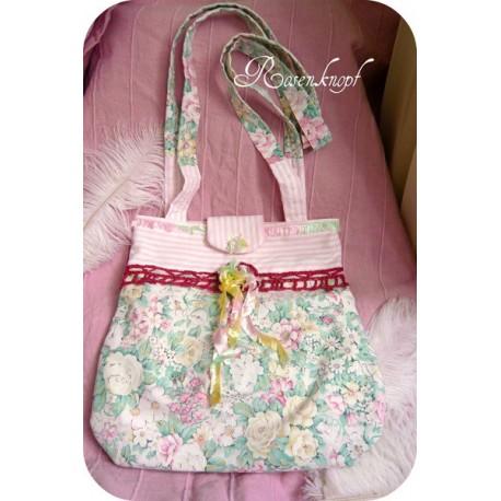Tasche Umhängetasche Rosa Blumen