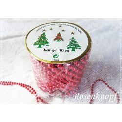 PERLENSCHNUR Rot Weihnachten