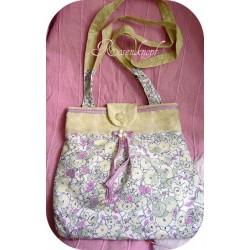 Handtasche Hellgrün Flieder Spitze