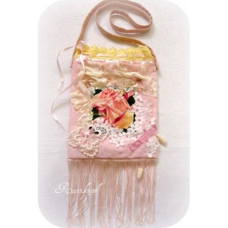 Handtasche Braut Rosa Ivory Rose Spitze E
