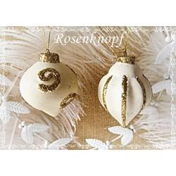 Baumkugel Weihnachten Ivory Keramik