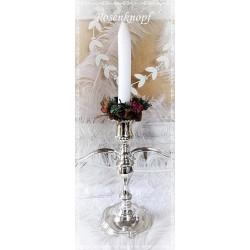 Blütenkranz für Kerzenständer Weihnachten