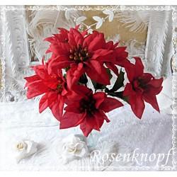 Weihnachtsstern Rot Kunstblumen