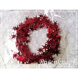VINTAGE DRAHT in Rot mit Sternen zum basteln und dekorieren für Weihnachten