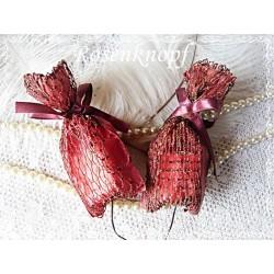 Weihnachten Säckchen Weinrot
