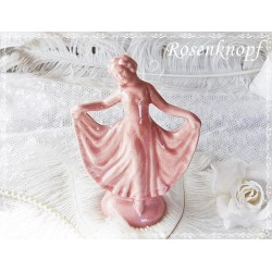 Tänzerin Rosa Skulptur Vintage EK