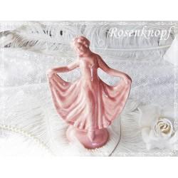 Tänzerin Rosa Skulptur Vintage