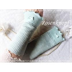 Walkstulpen Armstulpen Mint Ivory