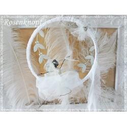 Draht BALLERINA Schwanensee Unikat Weiß Ivory Tüll