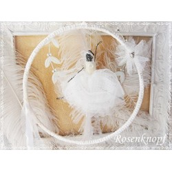 Draht BALLERINA Schwanensee Weiß Ivory Tüll