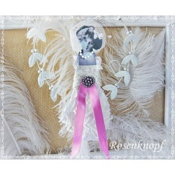 Figur Ivory Pink Spitze Shabby