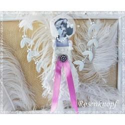 Frau Ivory Pink Spitze Shabby