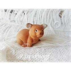 SCHWEIN Terracotta Glücksschwein