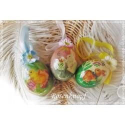 3er Set NOSTALGISCHE OSTEREIER Vintage Ostern Eier