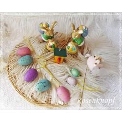 11t. Set OSTERSCHMUCK Osterstrauß Ostern Eier Hasen