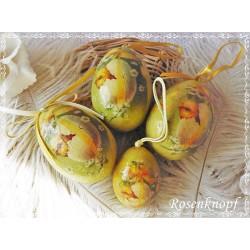 4er Set NOSTALGISCHE OSTEREIER Vintage Ostern Eier