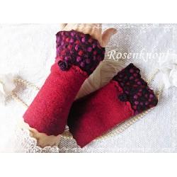 Walkstulpen Armstulpen Rot Bordeaux