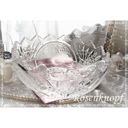 GLASSCHALE Bleikristall Glas Schale Obstschale Kristall Vintage Shabby Brocante 1960ger E