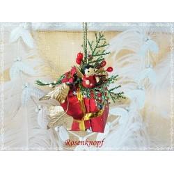 Weihnachten Mobile Fensterschmuck Rot Gold Unikat  K