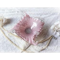SCHALE Glasschale 1950 Rosa Shabby Glas Vintage Brocante Tischschmuck Antiquität Geschenk Muttertag Geburtstag E