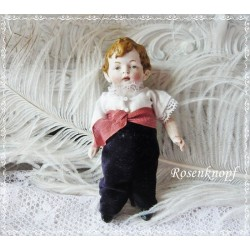 PUPPE Knabenpuppe Bubenpuppe Puppenstubenpuppe Spielzeug Porzellanpuppe 1960ger Jahre Porzellan Vintage E