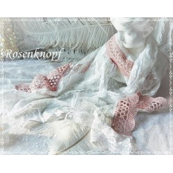 Schal~Tuch SISSI Brautschal Ivory Weiß Rosa Spitze Hochzeit