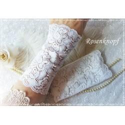 Spitzenstulpen Brautstulpen Weiß