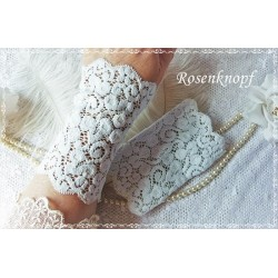 Brautstulpen Spitzenstulpen Hellblau