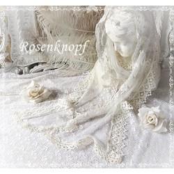 Schal~Tuch Brautschal Weiß