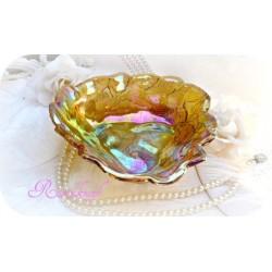 Glasschale GOLDGELB Vintage Schale Gelb Shabby