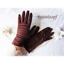 Stoffhandschuhe Damenhandschuhe M Rotbraun