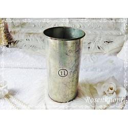 MESSBECHER 1Liter Vintage Weißblech Gründerzeit