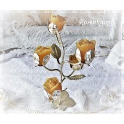 Kerzenständer von Quist Vintage Versilbert Shabby 5armig Rosen
