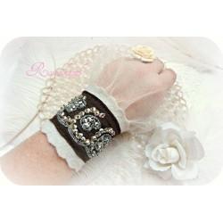 Armband Brautschmuck Beige