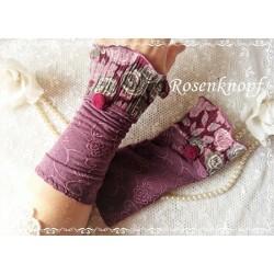 Stulpen Bordeaux Rosa